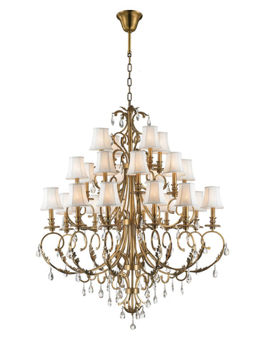 ARIA - Hampton 24 Arm Chandelier - Brass - Designer Chandelier