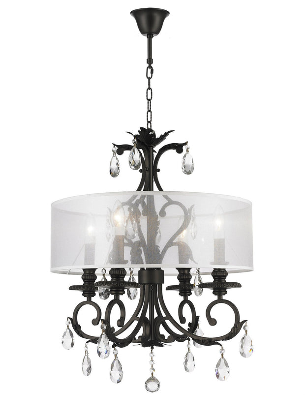ARIA - Hampton 4 Arm Chandelier - Dark Bronze - Orb Outer Shade - Designer Chandelier