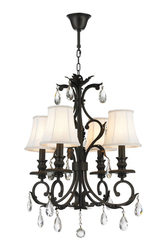 ARIA - Hampton 4 Arm Chandelier - Dark Bronze - Designer Chandelier  ARIA - Hampton 4 Arm Chandelier - Dark Bronze - Designer Chandelier
