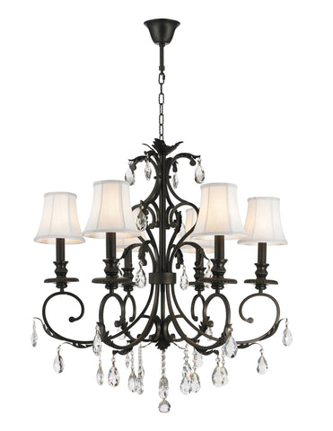 ARIA - Hampton 6 Arm Chandelier - Dark Bronze - Designer Chandelier