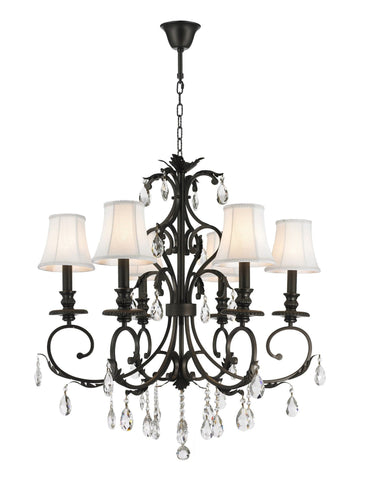 ARIA - Hampton 6 Arm Chandelier - Dark Bronze - Designer Chandelier  ARIA - Hampton 6 Arm Chandelier - Dark Bronze