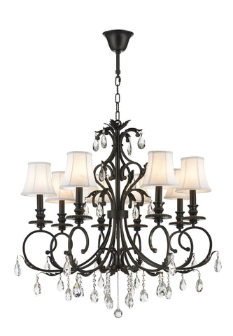 ARIA - Hampton 8 Arm Chandelier - Dark Bronze - Designer Chandelier  ARIA - Hampton 8 Arm Chandelier - Dark Bronze
