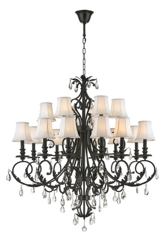 ARIA - Hampton 18 Arm Chandelier - Dark Bronze