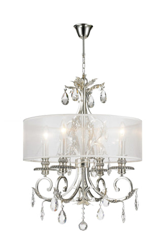 ARIA - Hampton 4 Arm Chandelier - Silver Plated - Designer Chandelier