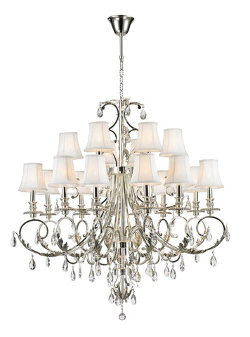 ARIA - Hampton 18 Arm Chandelier - Silver Plated