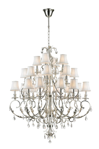 ARIA - Hampton 24 Arm Chandelier - Silver Plated-Designer Chandelier Australia ARIA - Hampton 24 Arm Chandelier - Silver Plated-Designer Chandelier Australia