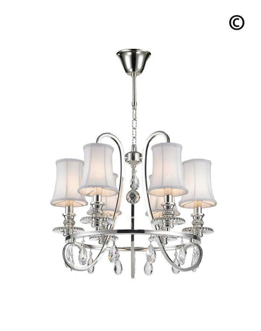 NewYork - Hampton Halo 6 Light Chandelier - Silver Plated-Designer Chandelier Australia NewYork - Hampton Halo 6 Light Chandelier - Silver Plated-Designer Chandelier Australia
