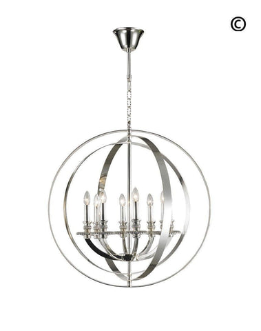 Hampton Orb - 8 Light - Silver Plated-Designer Chandelier Australia Hampton Orb - 8 Light - Silver Plated-Designer Chandelier Australia
