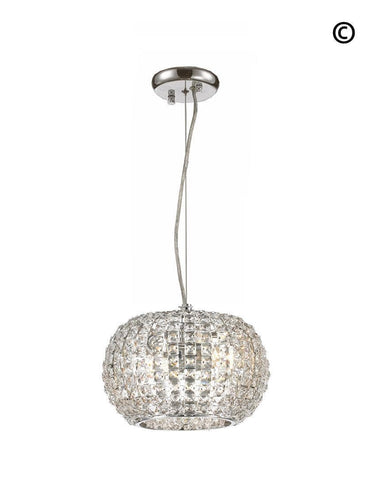 Infinity Pendant Lamp - Clear Crystal - W:25 H:15cm