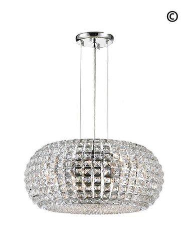 Infinity Pendant Lamp - Clear Crystal - W:60 H:27cm - Designer Chandelier