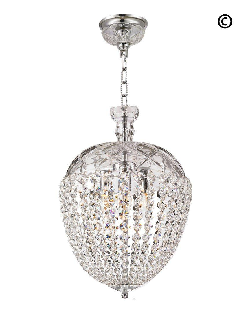 Bohemian basket chandelier width 30 cm chrome fixtures designer chandelier
