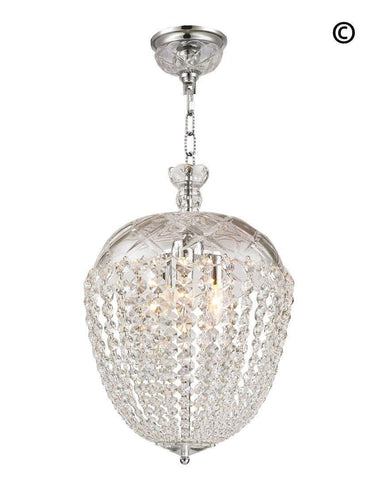 Bohemian Basket Chandelier - Width: 35 cm - Chrome Fixtures - Designer Chandelier
