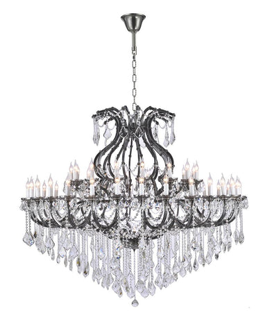 Maria Theresa Crystal Chandelier 48 Light- Smoke - Designer Chandelier