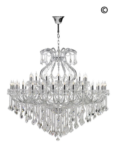 Maria Theresa Crystal Chandelier 48 Light- CHROME