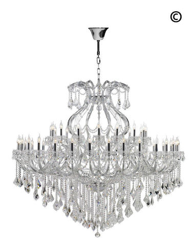 Maria Theresa Crystal Chandelier 48 Light- CHROME-Designer Chandelier Australia