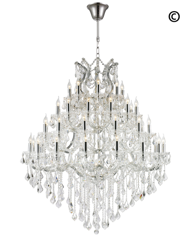 Maria Theresa Crystal Chandelier Grande 48 Light - CHROME - Designer Chandelier