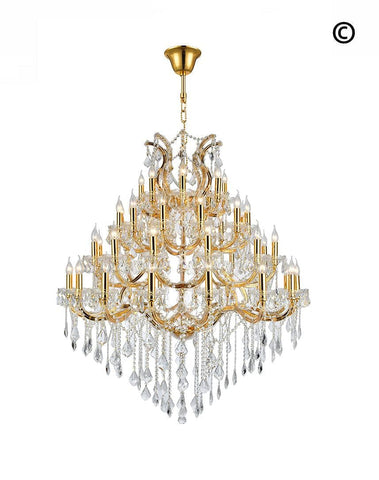 Maria Theresa Crystal Chandelier Grande 48 Light- GOLD - Designer Chandelier  Maria Theresa Crystal Chandelier Grande 48 Light- GOLD - Designer Chandelier