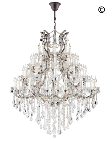 Maria Theresa Crystal Chandelier Grande 48 Light - RUSTIC