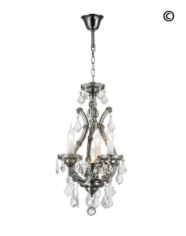 Maria Theresa Basket Crystal Chandelier - SMOKE
