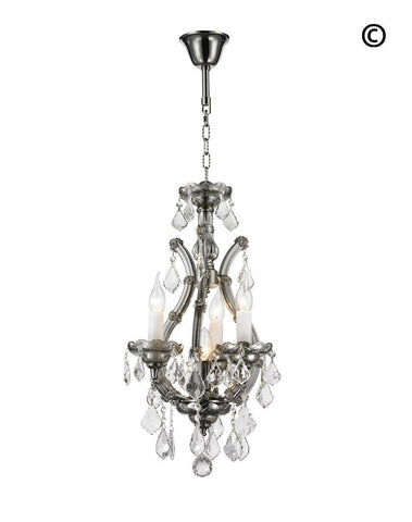 Maria Theresa Basket Crystal Chandelier - SMOKE - Designer Chandelier