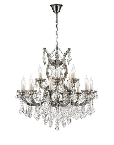 Maria Theresa Crystal Chandelier Grande 19 Light - SMOKE