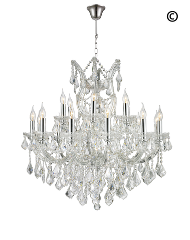 Maria Theresa Crystal Chandelier Grande 19 Light - CHROME