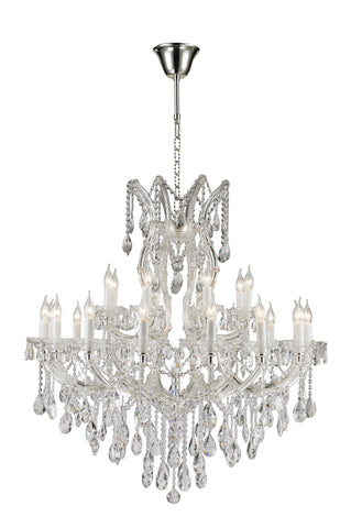 Maria Theresa Crystal Chandelier 24 Light - Silver Plated