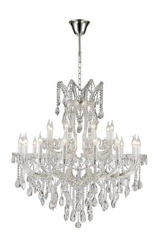 Maria Theresa Crystal Chandelier 24 Light - Silver Plated - Designer Chandelier