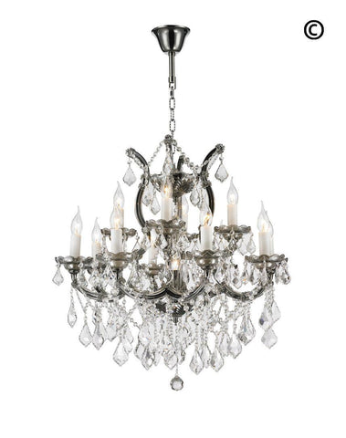 Maria Theresa Crystal Chandelier Grande 13 Light - SMOKE