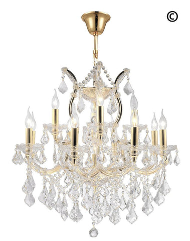 Maria Theresa Crystal Chandelier Grande 13 Light - GOLD
