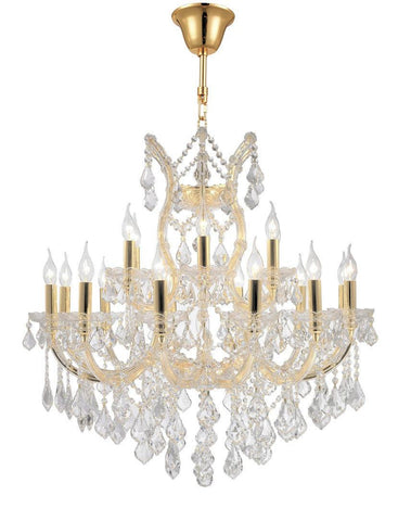 Maria Theresa Crystal Chandelier Grande 19 Light - GOLD