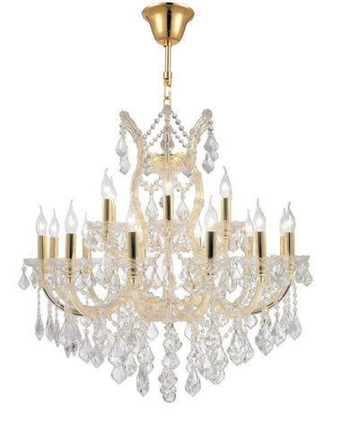 Maria Theresa Crystal Chandelier Grande 19 Light - GOLD - Designer Chandelier