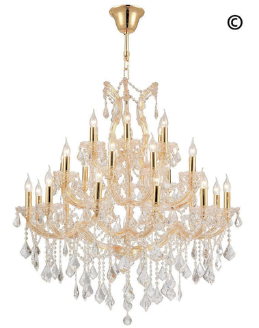 Maria Theresa Crystal Chandelier Grande 28 Light - GOLD - Designer Chandelier