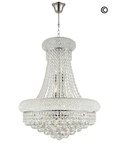Royal Empress Basket Chandelier - CHROME - W:50cm - Designer Chandelier