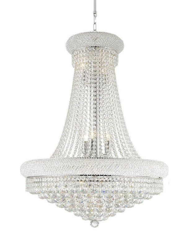 Royal Empress Basket Chandelier - CHROME - W:70cm - Designer Chandelier