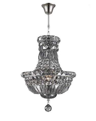 Empress Crystal Basket Chandelier - SMOKE - 5 Light - Designer Chandelier