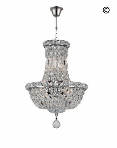 Empress Crystal Basket Chandelier - CHROME - 5 Light - Designer Chandelier