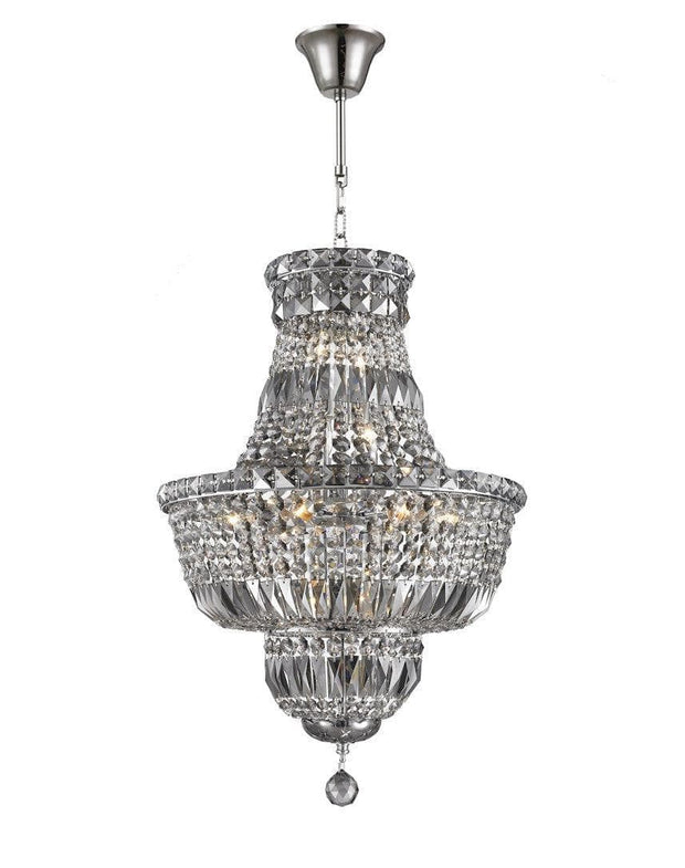 Empress Crystal Basket Chandelier - SMOKE- 12 Light - Designer Chandelier