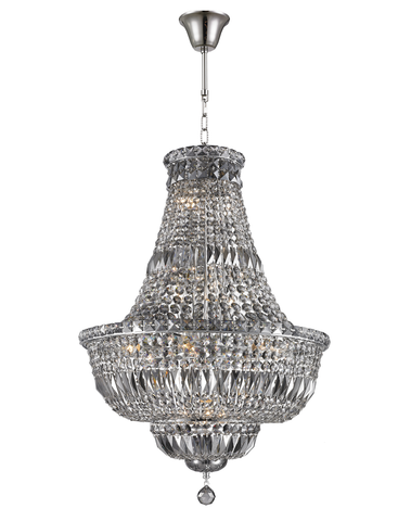 Empress Crystal Basket Chandelier - Chrome - Smoke Crystal 15 Light - Designer Chandelier