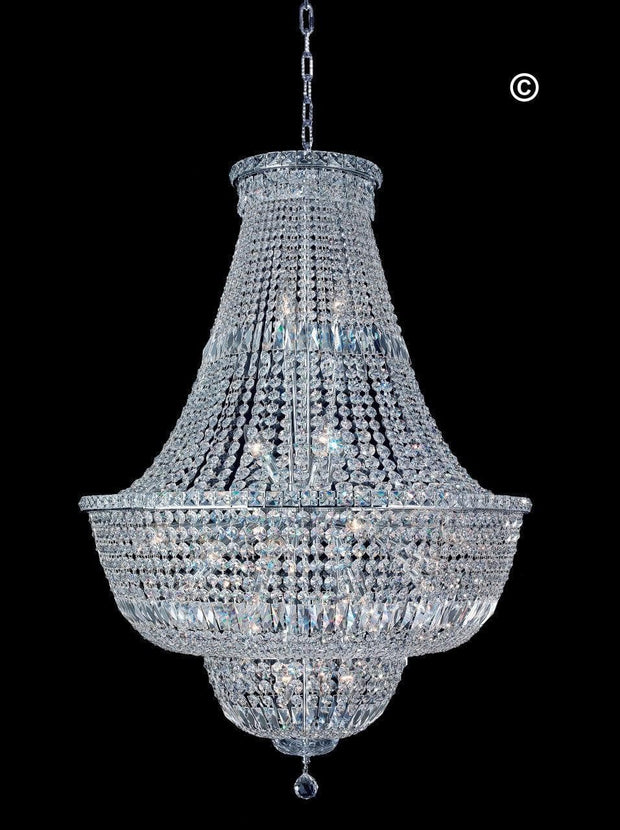 Empress Crystal Basket Chandelier - CHROME - 28 Light - Designer Chandelier