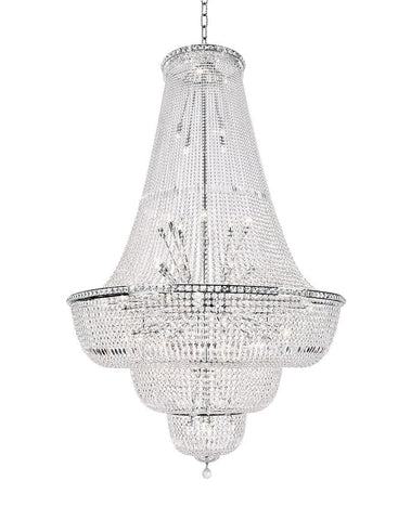 Empress Crystal Basket Chandelier - CHROME - Lights: 76 - Designer Chandelier
