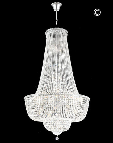 Empress Crystal Basket Chandelier - CHROME - 45 Light-Designer Chandelier Australia