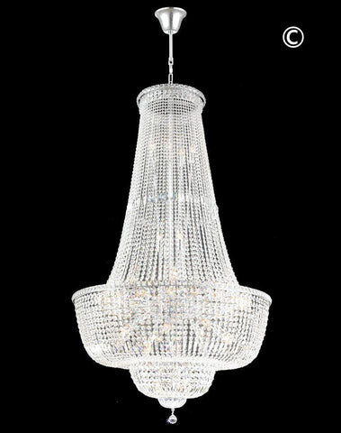 Empress Crystal Basket Chandelier - CHROME - 45 Light - Designer Chandelier