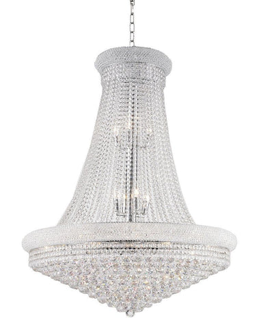 Royal Empress Basket Chandelier - CHROME - W:90cm - Designer Chandelier