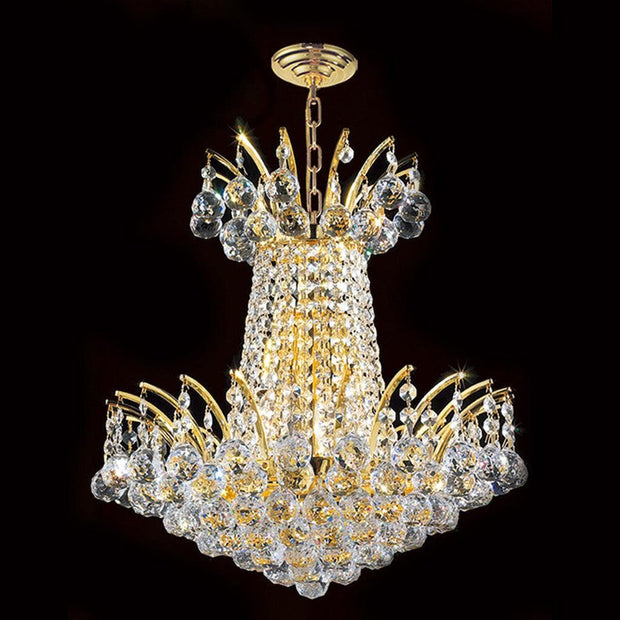 Cascading Empress Chandelier - 4 Light Gold - W:40cm - Designer Chandelier