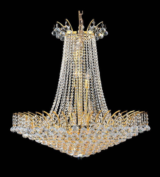 Cascading Empress Chandelier - 16 Light - Gold - W:75cm - Designer Chandelier