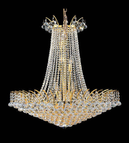 Cascading Empress Chandelier - 16 Light - Gold - W:75cm-Designer Chandelier Australia