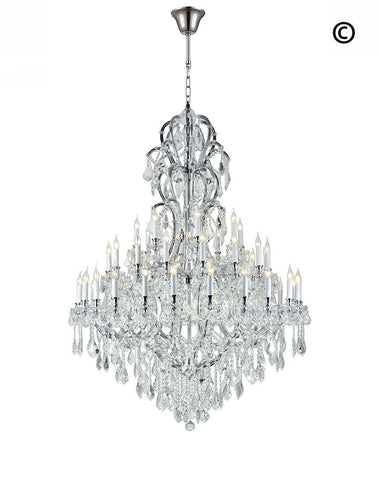 Maria Theresa Crystal Chandelier Royal 48 Light - CHROME - Designer Chandelier  Maria Theresa Crystal Chandelier Royal 48 Light - CHROME - Designer Chandelier