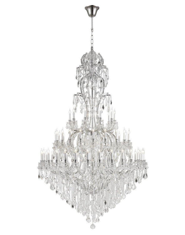 Maria Theresa Crystal Chandelier Royal 60 Light - CHROME - Designer Chandelier