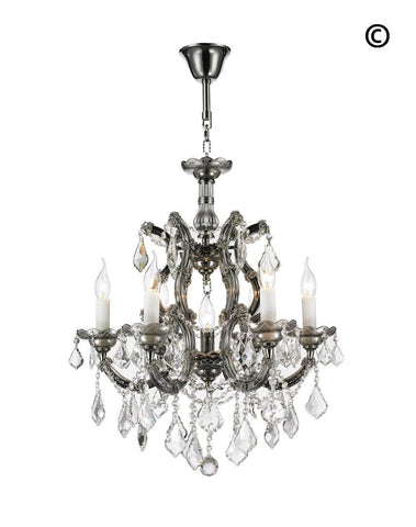 Maria Theresa Crystal Chandelier Grande 7 Light - SMOKE